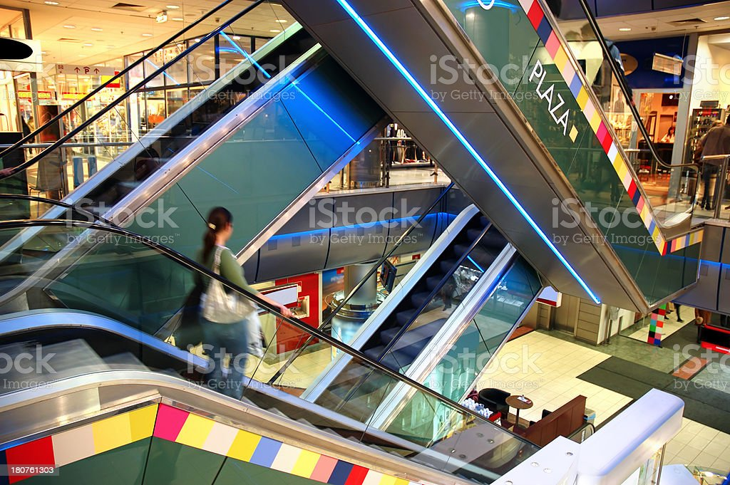 Shopping Mall's Escalators royalty-free stock photo