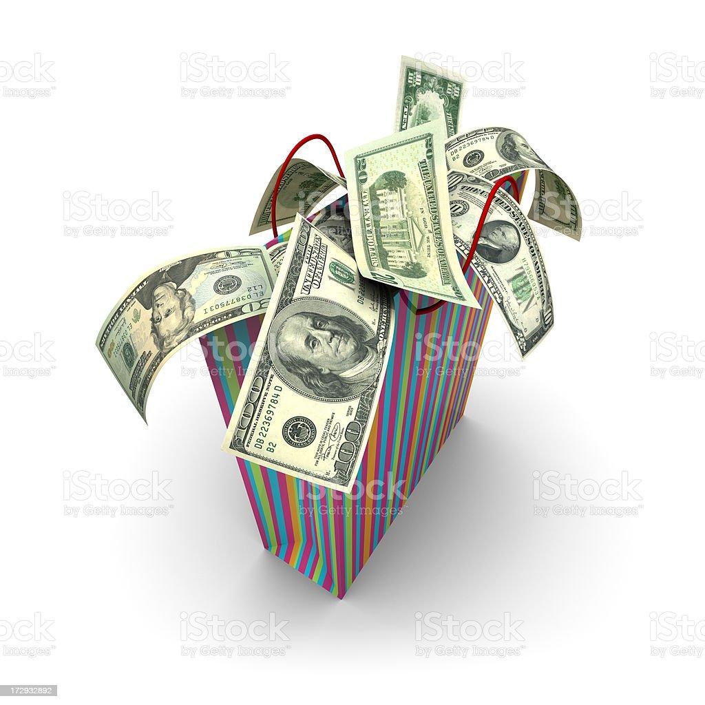 Shopping Money (XXL) royalty-free stock photo