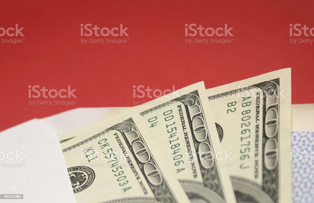Shopping money stock photo