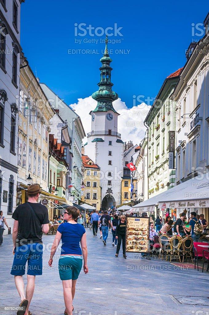Shopping on Michalska Street stock photo