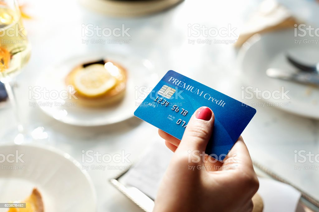 Shopping Online Payment Shop Credit Card Concept stock photo