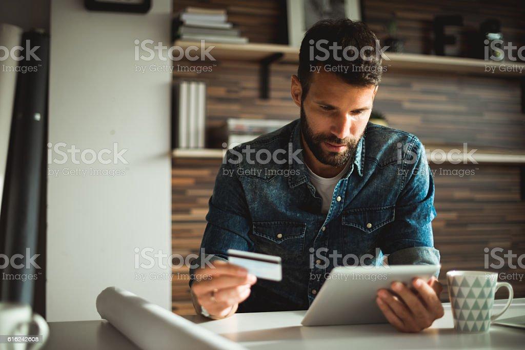 Shopping online stock photo