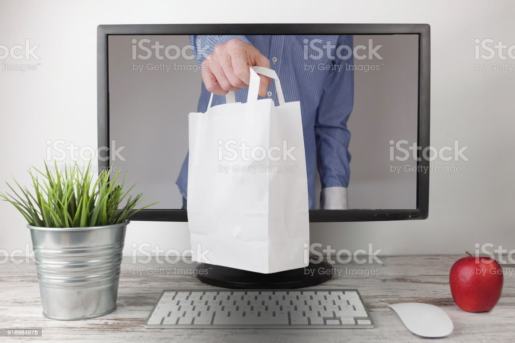 Shopping Online stock photo