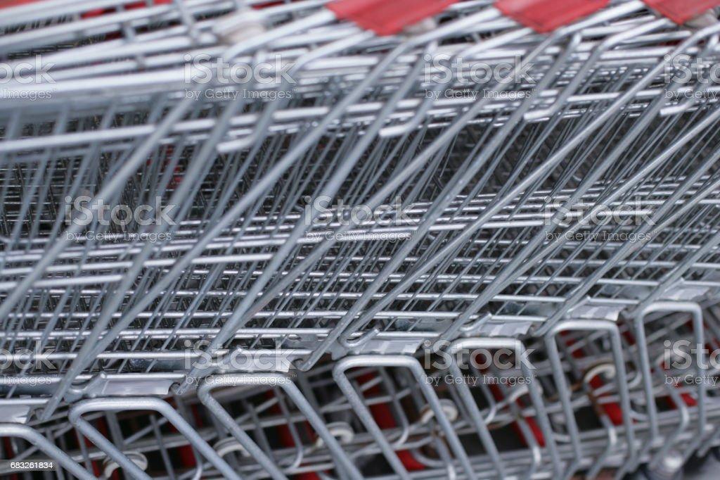 Shopping outdoors trolleys 免版稅 stock photo