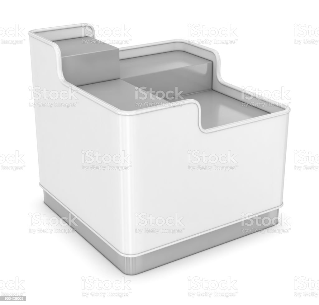 購物託盤展示架 - 免版稅一個物體圖庫照片