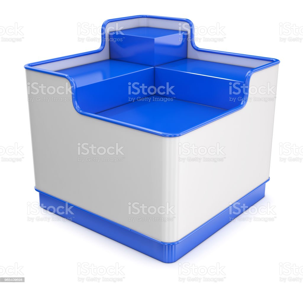 Shopping pallet display shelf royalty-free stock photo
