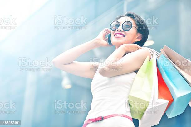 Shopping Young woman shopping. 20-24 Years Stock Photo