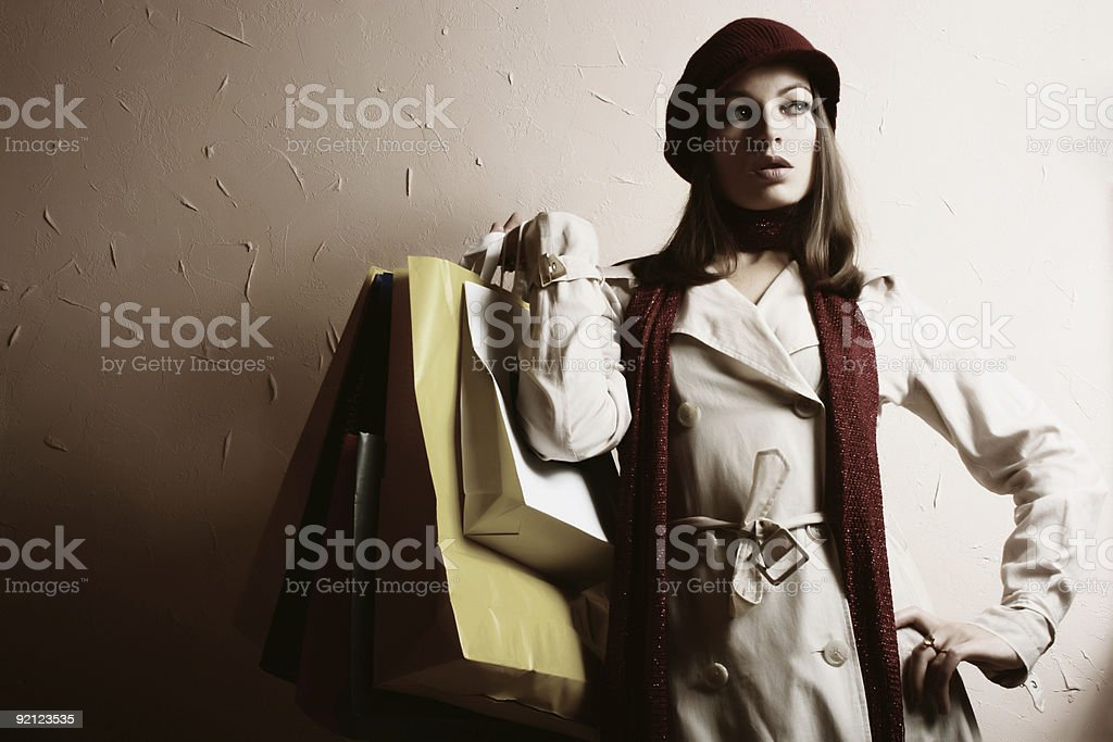 Shopping!!!  18-19 Years Stock Photo