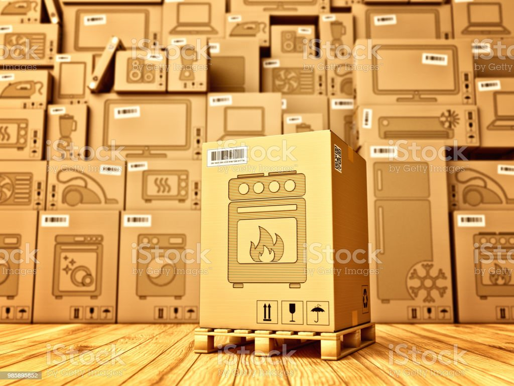 Shopping, purchase and delivery concept stock photo