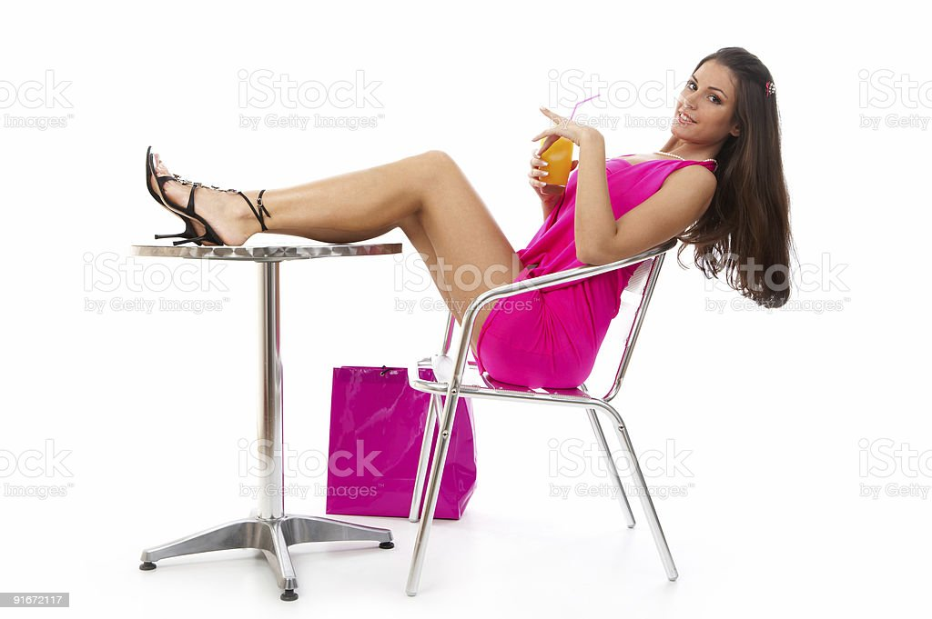 Shopping rest stock photo