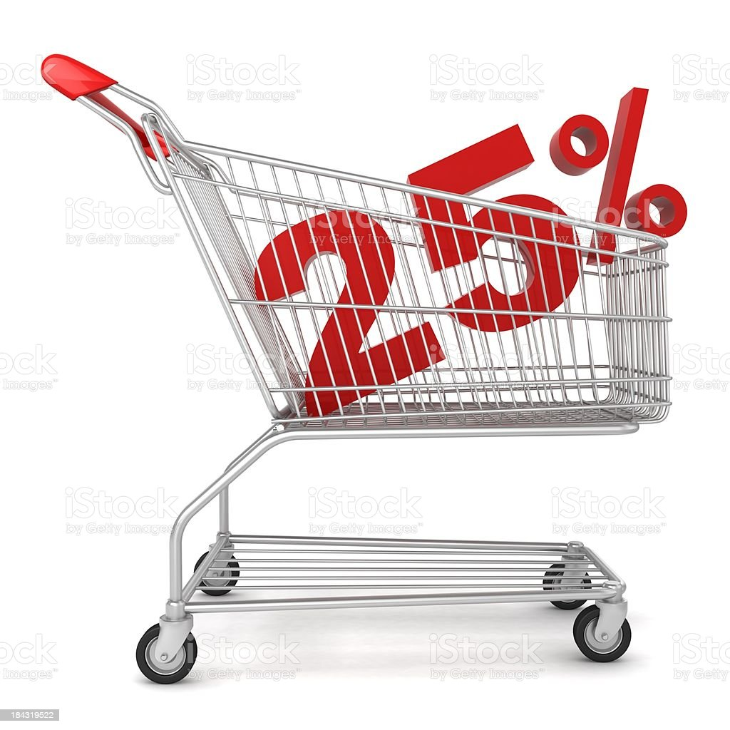 Shopping Sale - 25% Discount royalty-free stock photo