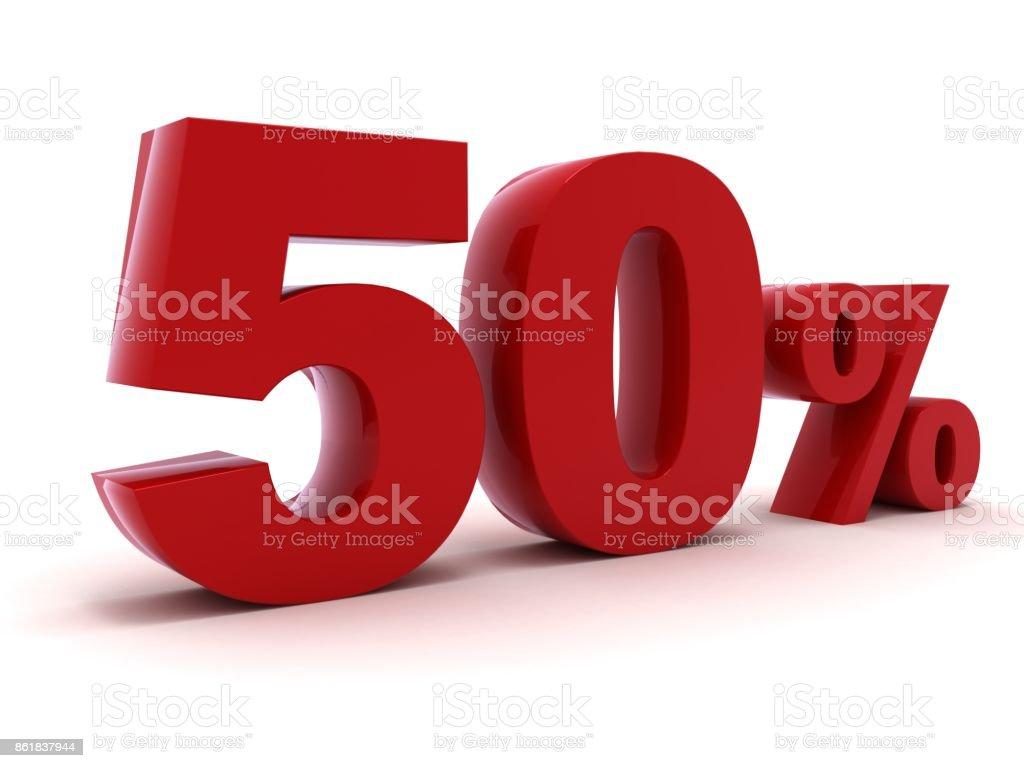 Percentagem de 50% de desconto venda de compras - foto de acervo