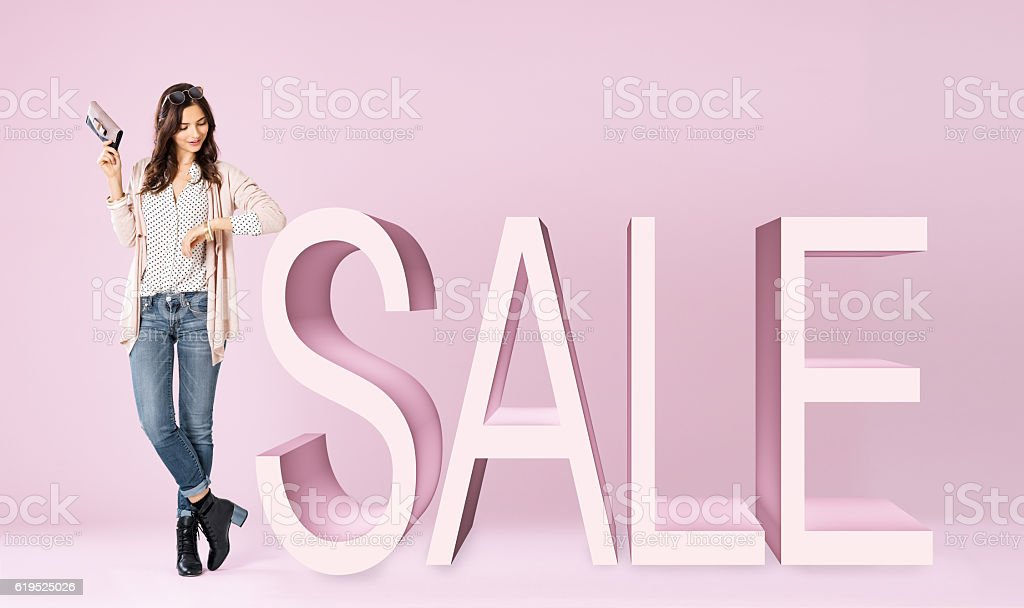 Shopping sale stock photo