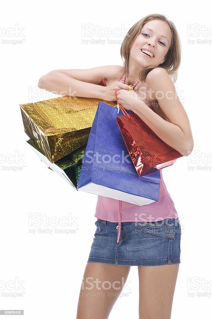 Shopping sexy woman royalty-free stock photo