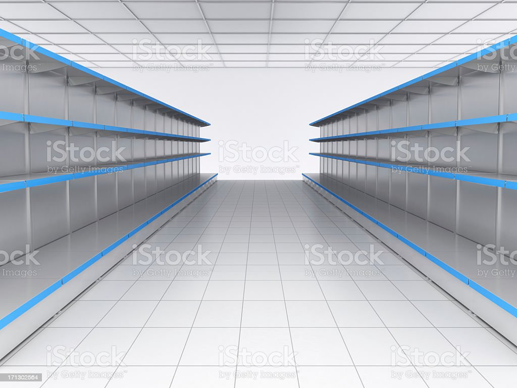 Shopping Shelves royalty-free stock photo