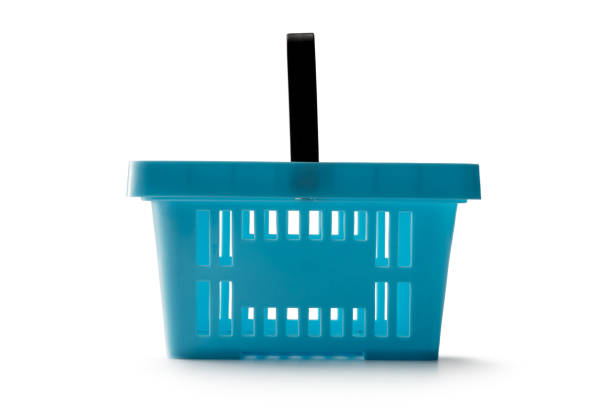 Shopping: Shopping Basket Isolated on White Background stock photo
