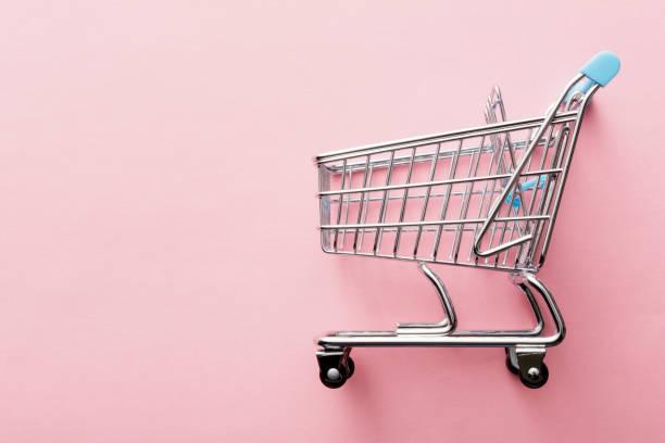 Shopping: Shopping Cart Still Life stock photo