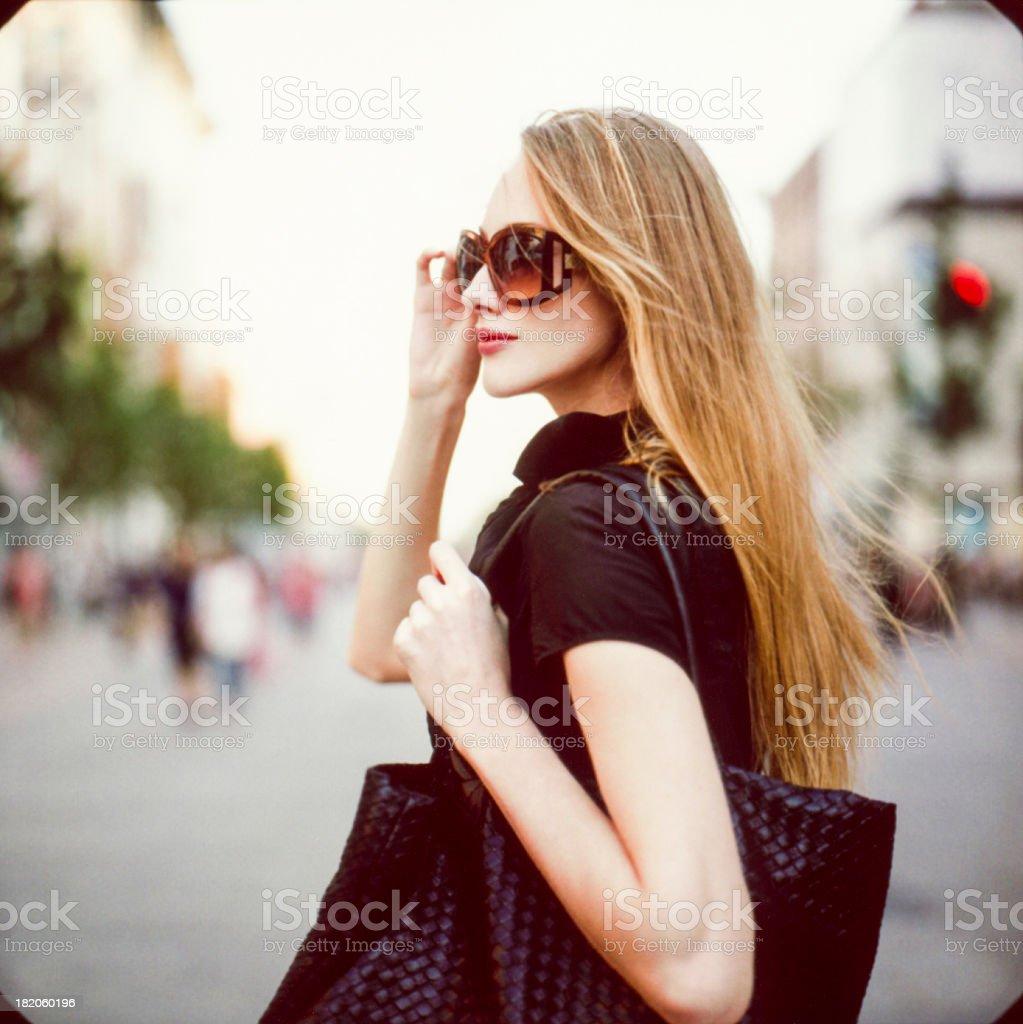 Shopping. Shot with polaroid. stock photo