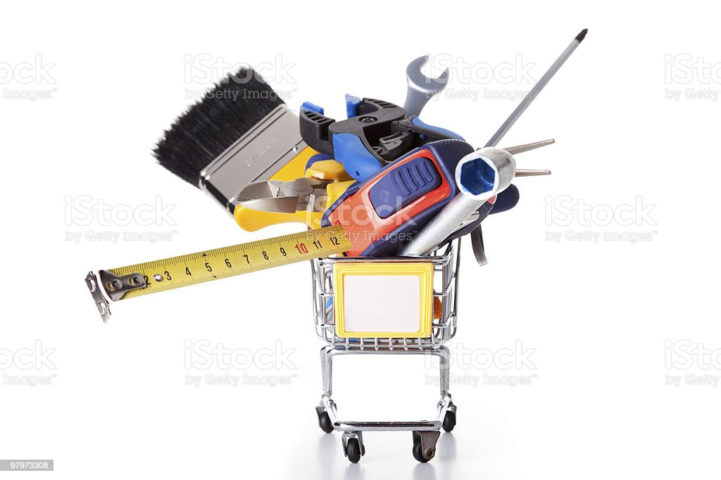 Shopping some construction tools royalty-free stock photo