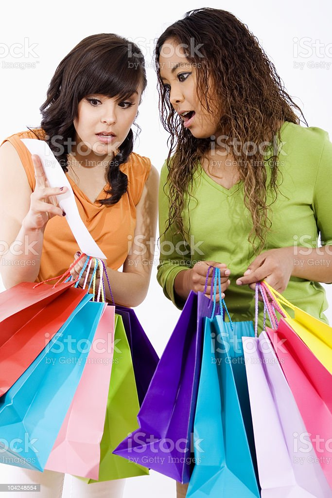 Shopping spree stock photo