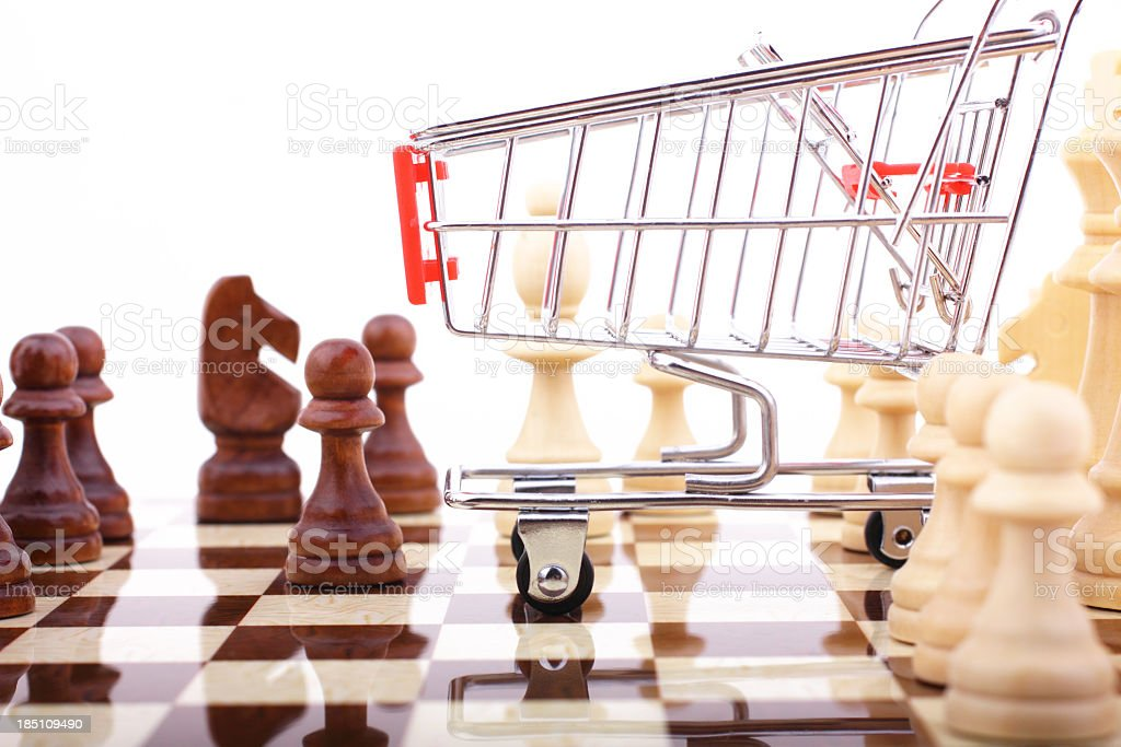 Shopping Strategy royalty-free stock photo