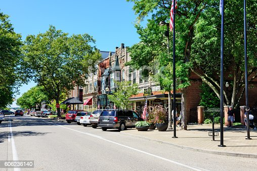 istock Shopping street in downtown Holland, Michigan 606236140
