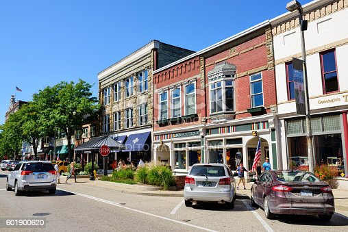 istock Shopping street in  Holland, Michigan 601900620