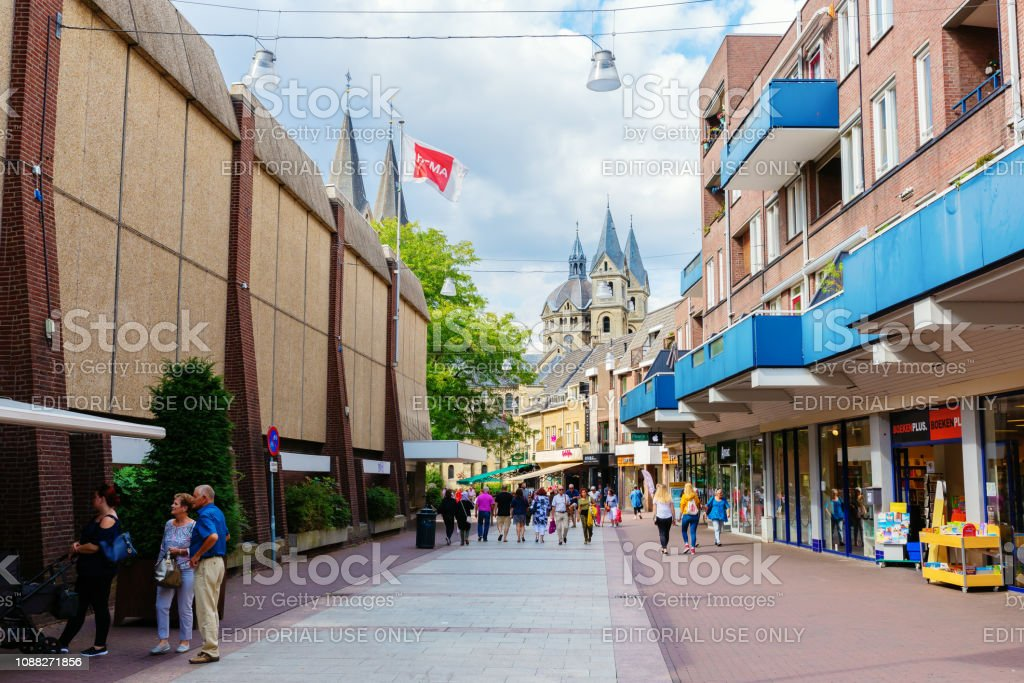 Shopping Street In The City Center Of Roermond Netherlands