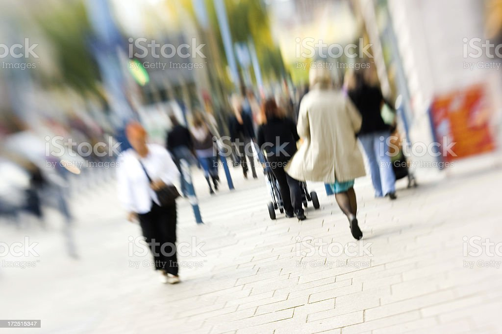 Shopping street royalty-free stock photo