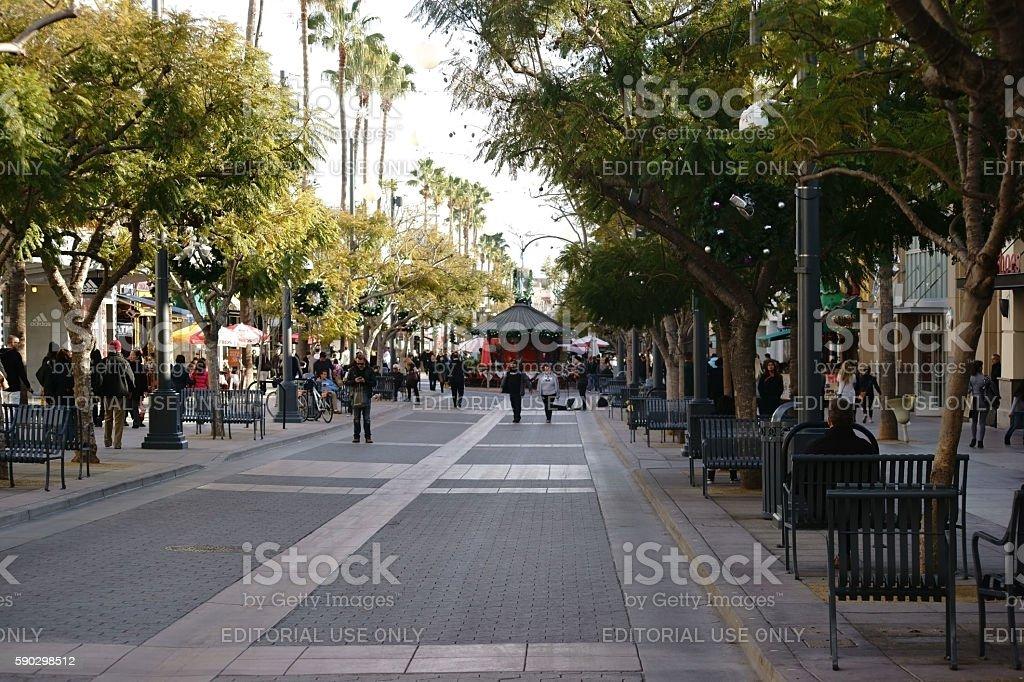 Shopping Street Santa Monica royaltyfri bildbanksbilder