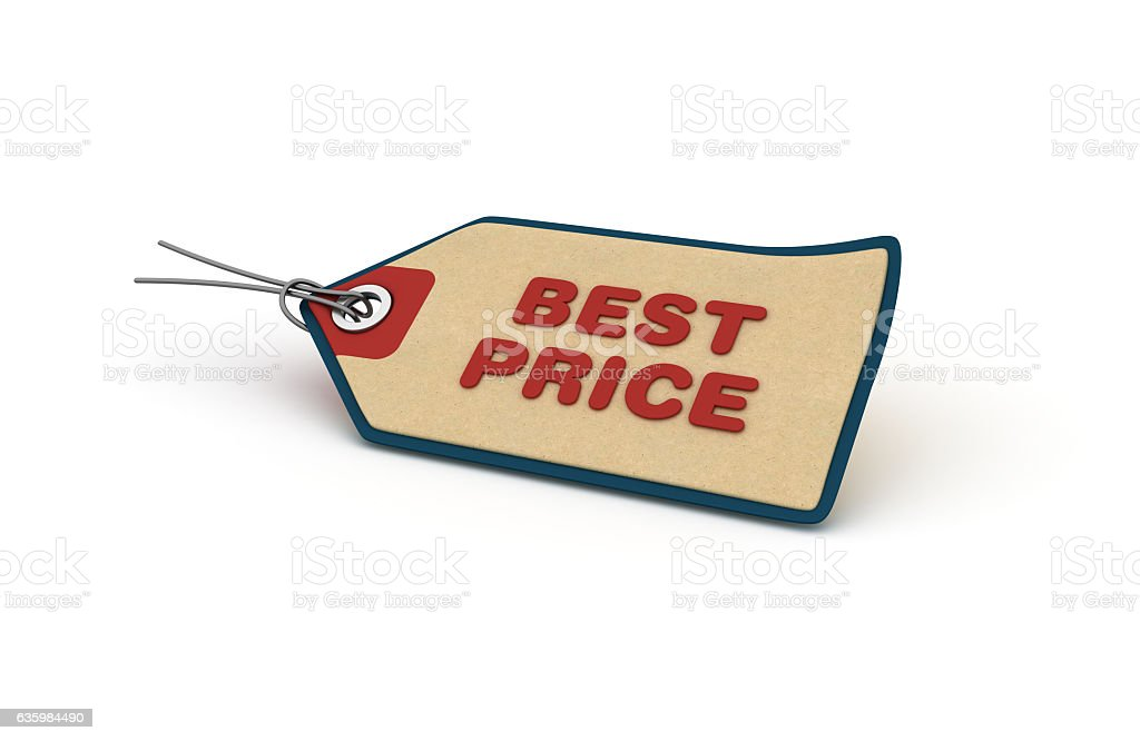 BEST PRICE Shopping Tag - 3D Rendering stock photo