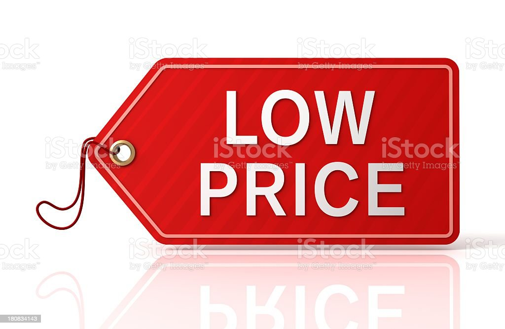 LOW PRICE Shopping Tag stock photo