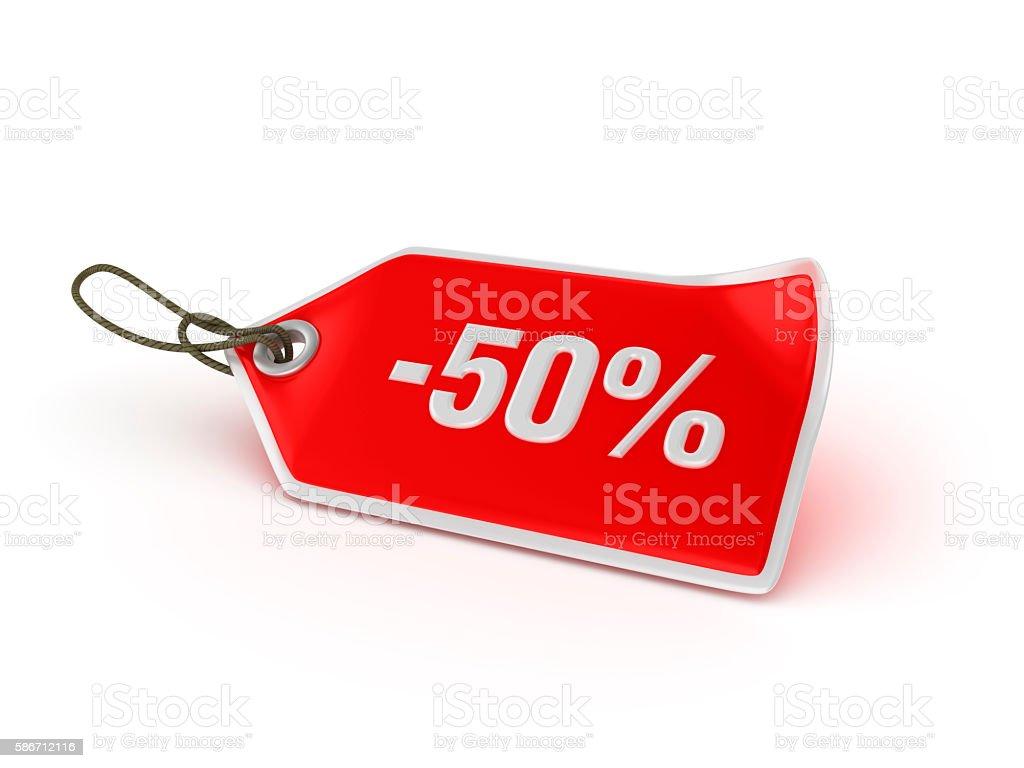 Shopping Tag Series -  -50% - foto de acervo