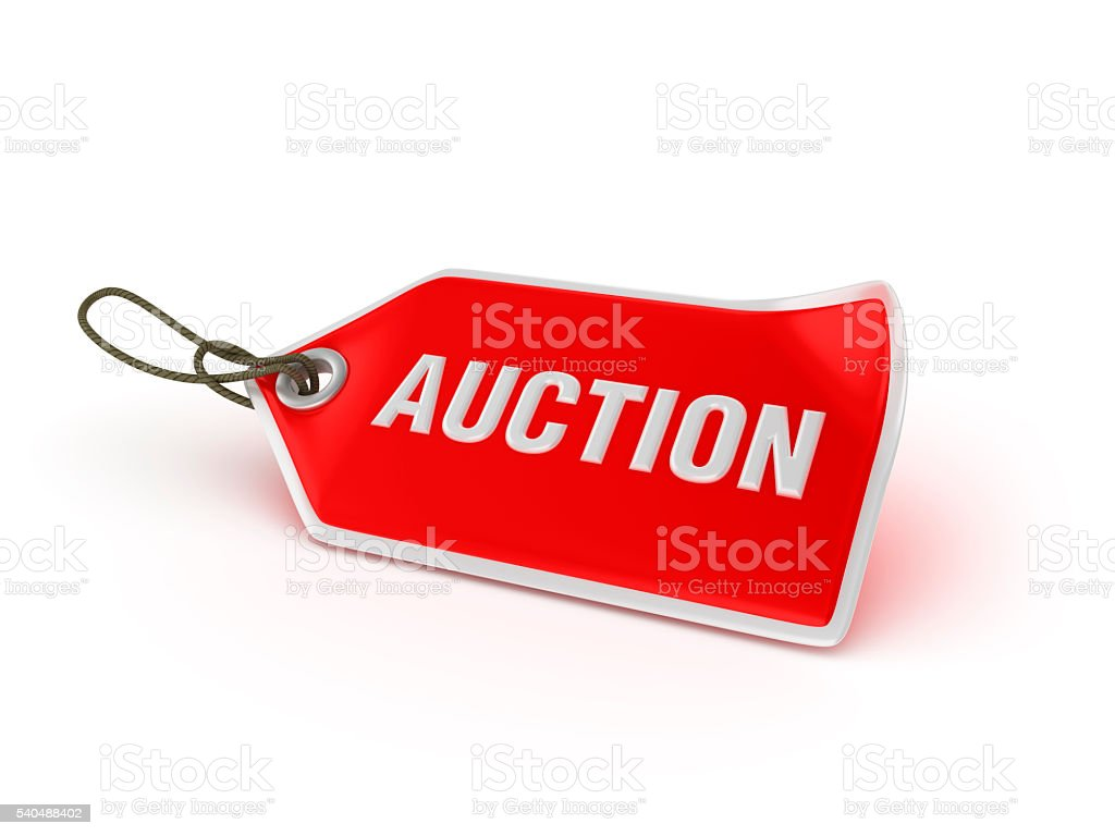 Shopping Tag Series -  AUCTION stock photo