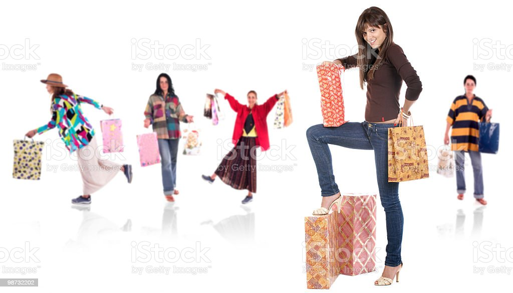 Shopping team royalty-free stock photo