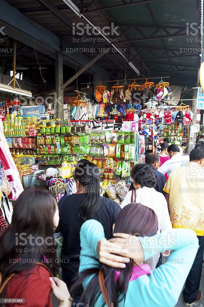 Shopping Thai people from Myanmar stock photo