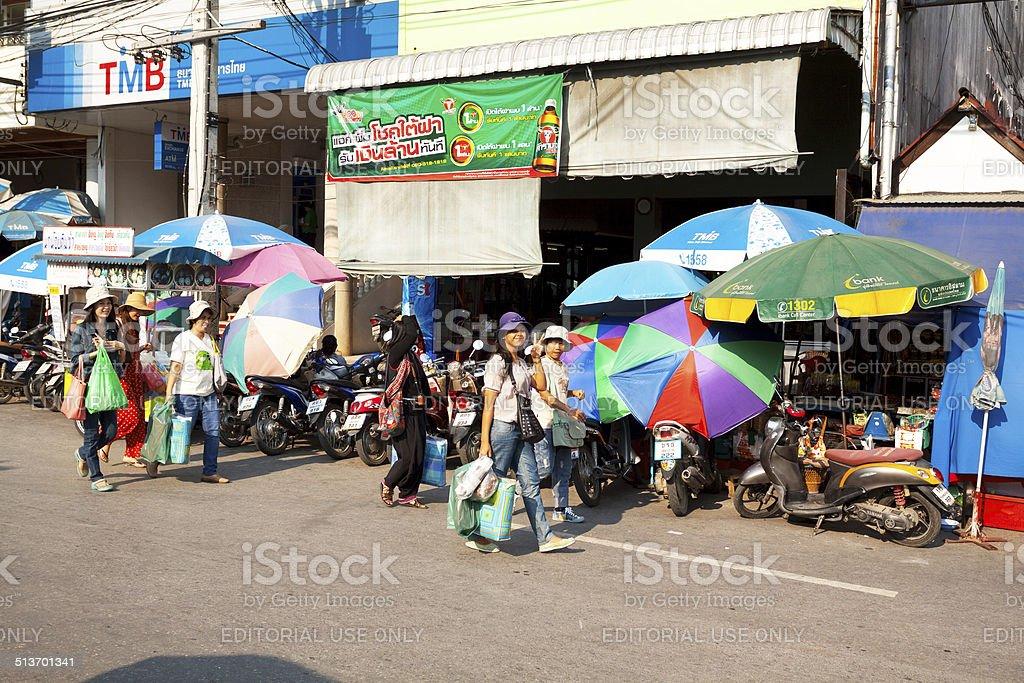 Shopping Thai women stock photo