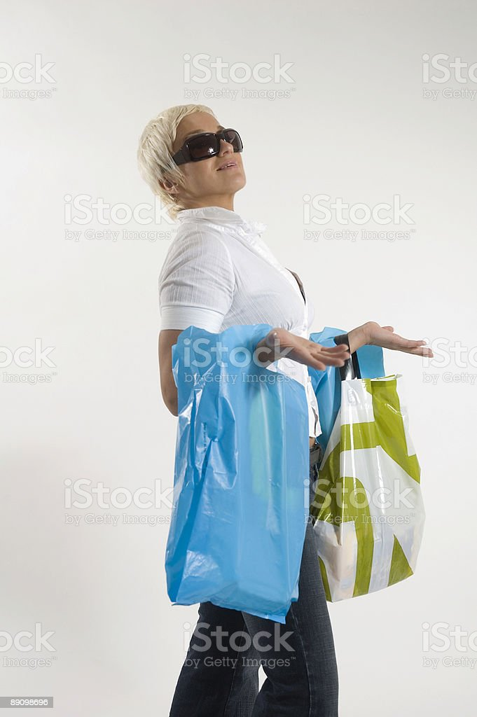 Shopping-Zeit Lizenzfreies stock-foto