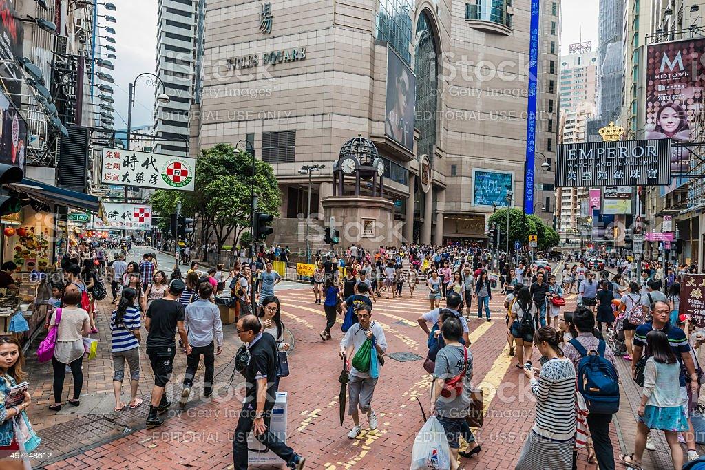 Shopping Times Square Causeway Bay Hong Kong stock photo