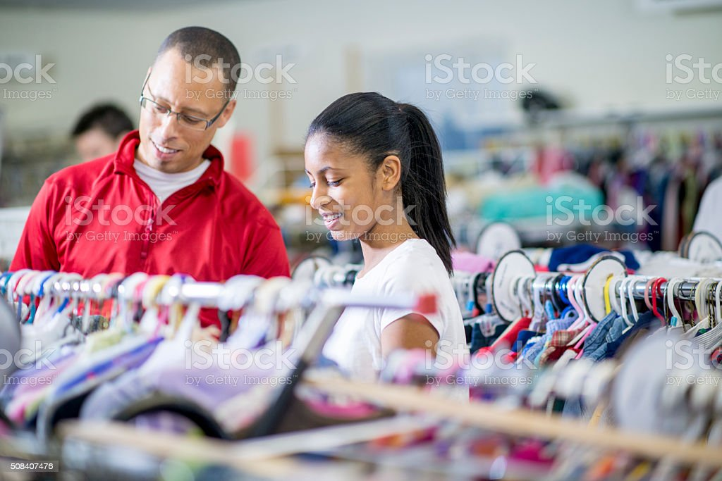 Shopping Together at a Thrift Store​​​ foto