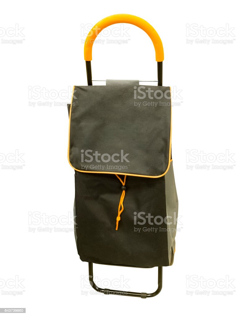 Shopping trolley bag stock photo
