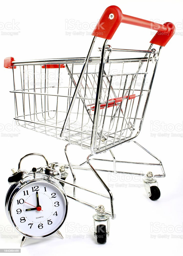 shopping trolley cart royalty-free stock photo