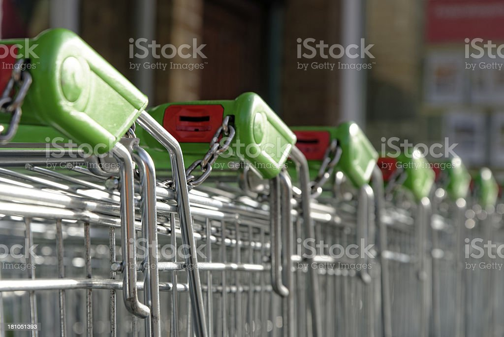 Shopping Trolleys royalty-free stock photo