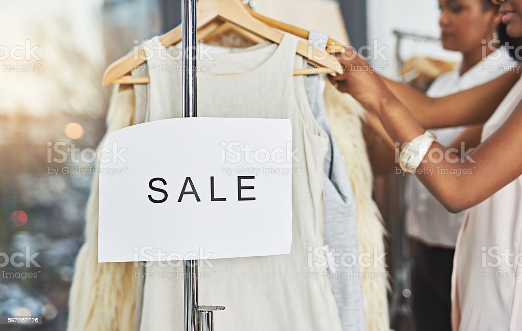 Shopping up a storm royalty-free stock photo