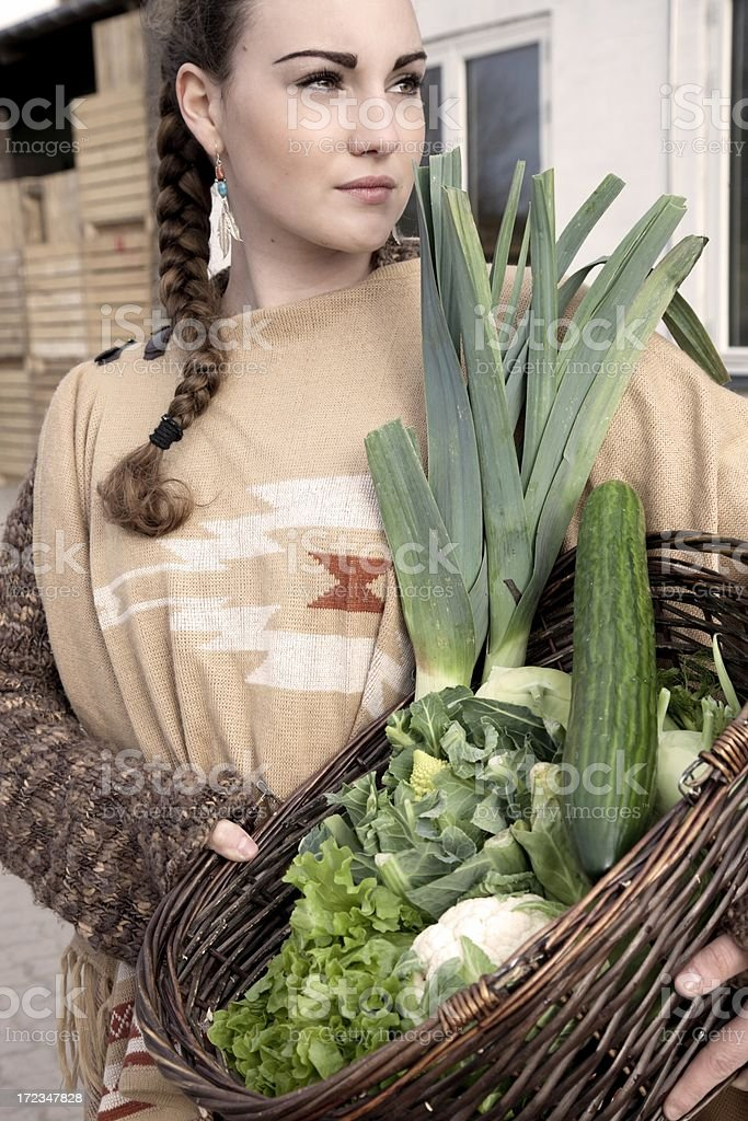 Shopping vegetables... royalty-free stock photo