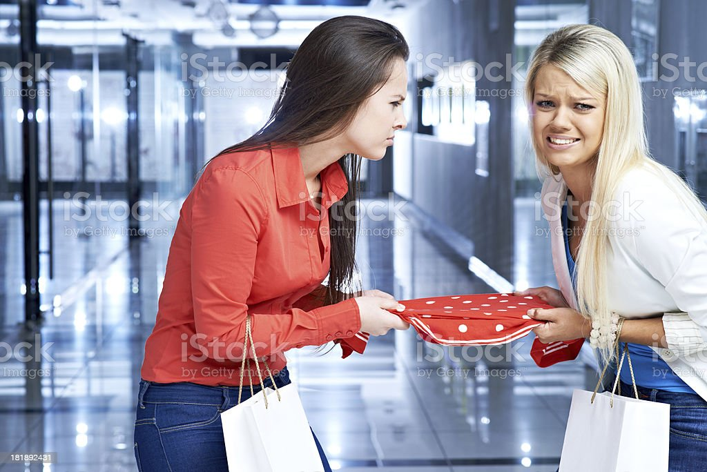 Shopping violence royalty-free stock photo