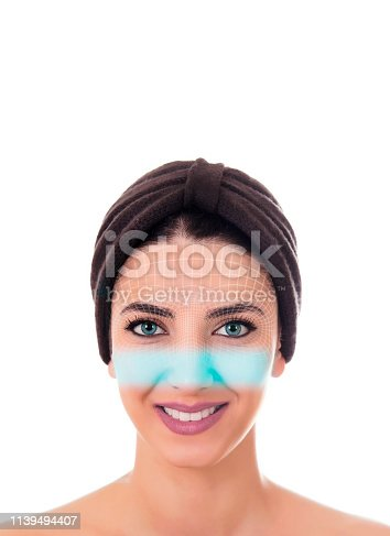 858527030istockphoto Shopping with facial recognition. 1139494407
