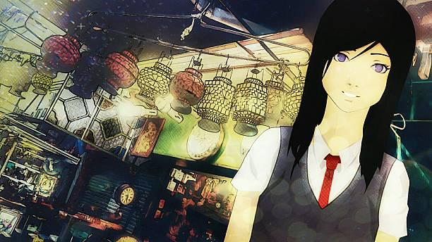 shopping with kizashi - manga style stock photos and pictures