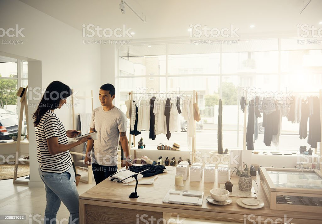 Shopping with the convenience of a card stock photo