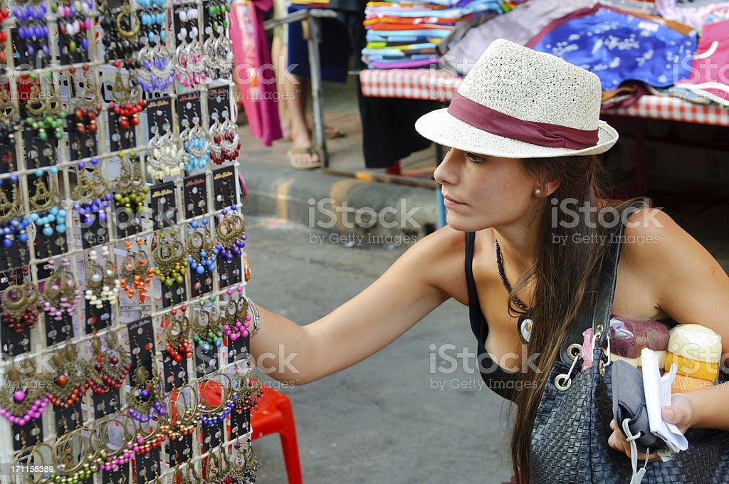 Shopping woman in Bangkok, Thailand royalty-free stock photo